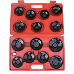 Klucze nasadowe do filtrów oleju 15 elementów
