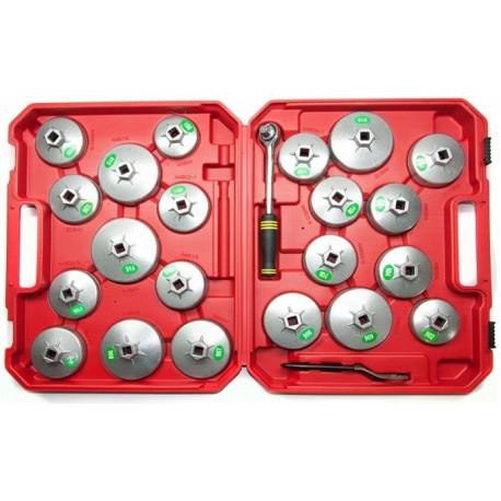 klucze nasadowe do filtrów oleju 23 elementy