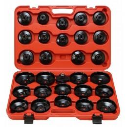Klucze nasadowe do filtrów oleju 30 elementów