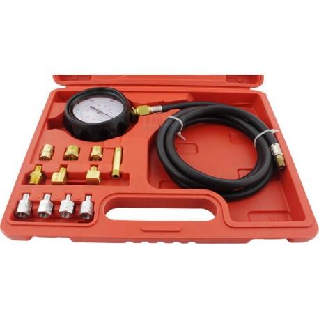 Miernik tester ciśnienia oleju + końcówki 12 elementów